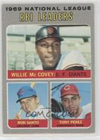 Willie McCovey, Ron Santo, Tony Perez [Good to VG‑EX]