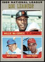 Willie McCovey, Ron Santo, Tony Perez [EX]