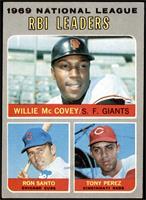 Willie McCovey, Ron Santo, Tony Perez [EX+]