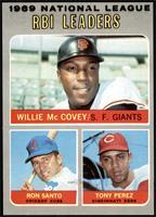 Willie McCovey, Ron Santo, Tony Perez [NM]