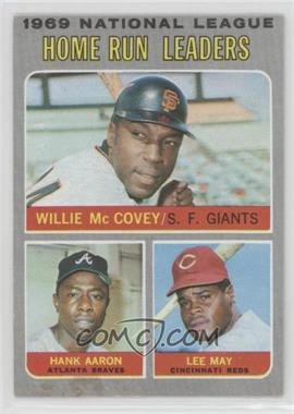 1970 Topps - [Base] #65 - 1969 National League Home Run Leaders (Willie McCovey, Hank Aaron, Lee May) [Poor to Fair]