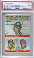 Willie McCovey, Hank Aaron, Lee May [PSA7NM]