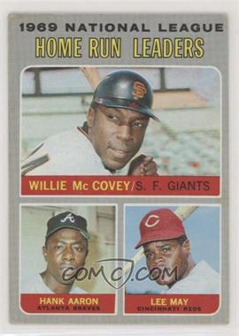 1970 Topps - [Base] #65 - Willie McCovey, Hank Aaron, Lee May [GoodtoVG‑EX]