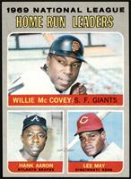 Willie McCovey, Hank Aaron, Lee May [NM+]