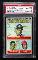 Willie McCovey, Hank Aaron, Lee May [PSA8NM‑MT]