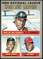 Willie McCovey, Hank Aaron, Lee May [VG EX]