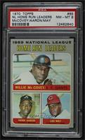 Willie McCovey, Hank Aaron, Lee May [PSA 8 NM‑MT]