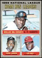 Willie McCovey, Hank Aaron, Lee May [EX+]