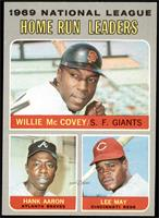 Willie McCovey, Hank Aaron, Lee May [EX MT]