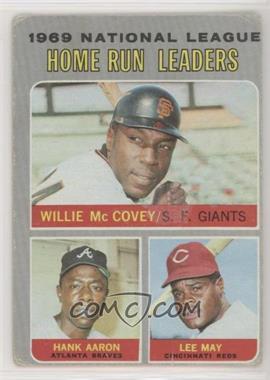 1970 Topps - [Base] #65 - Willie McCovey, Hank Aaron, Lee May [PoortoFair]