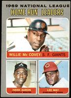 Willie McCovey, Hank Aaron, Lee May [VG]