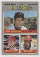 National League ERA Leaders (Juan Marichal, Steve Carlton, Bob Gibson) [Poor&nb…