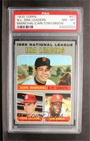 National League ERA Leaders (Juan Marichal, Steve Carlton, Bob Gibson) [PSA&nbs…