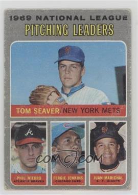 1970 Topps - [Base] #69 - NL Pitching Leaders  (Tom Seaver, Phil Niekro, Fergie Jenkins, Juan Marichal) [GoodtoVG‑EX]