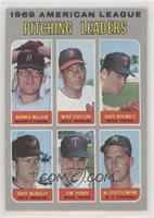 Denny McLain, Mike Cuellar, Dave Boswell, Jim Perry, Mel Stottlemyre, Dave McNa…
