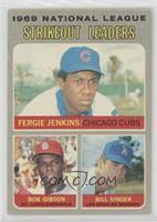 National League Strikeout Leaders (Fergie Jenkins, Bob Gibson, Bill Singer) [Po…