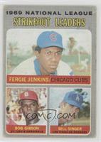 National League Strikeout Leaders (Fergie Jenkins, Bob Gibson, Bill Singer) [Go…