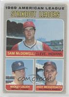 Sam McDowell, Mickey Lolich, Andy Messersmith [Good to VG‑EX]