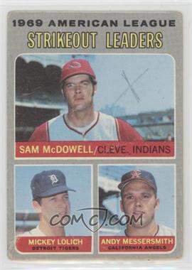 1970 Topps - [Base] #72 - Sam McDowell, Mickey Lolich, Andy Messersmith [PoortoFair]