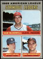Sam McDowell, Mickey Lolich, Andy Messersmith [NM+]