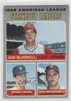 Strikeout Leaders (Sam McDowell, Mickey Lolich, Andy Messersmith) [Poor]