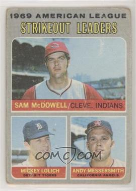 1970 Topps - [Base] #72 - Strikeout Leaders (Sam McDowell, Mickey Lolich, Andy Messersmith) [PoortoFair]