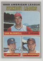 Strikeout Leaders (Sam McDowell, Mickey Lolich, Andy Messersmith)