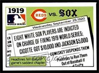 1919 - Cincinnati Reds vs Chicago White Sox [EX]