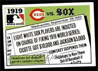 1919 - Cincinnati Reds vs Chicago White Sox [EX MT]