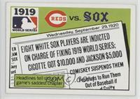 1919 - Cincinnati Reds vs Chicago White Sox [Good to VG‑EX]