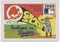 1920 - Cleveland Indians vs Brooklyn Dodgers [GoodtoVG‑EX]