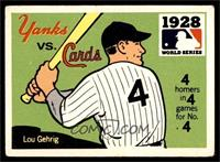 1928 - New York Yankees vs. St. Louis Cardinals [VG]