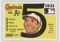 1931 - St. Louis Cardinals vs. Philadelphia A's