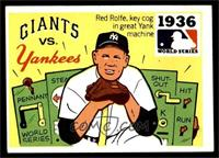 1936 - New York Giants vs. New Yankees [EX]