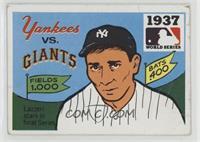 1937 - New York Yankees vs. New York Giants [Poor]