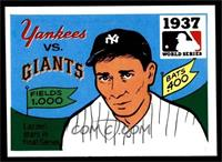 1937 - New York Yankees vs. New York Giants [EX MT]