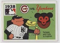 1938 - Chicago Cubs vs. New York Yankees [GoodtoVG‑EX]