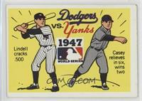 1947 - New York Yankees vs. Brooklyn Dodgers [GoodtoVG‑EX]