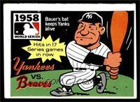 1958 - New York Yankees vs. Milwaukee Braves [VGEX]