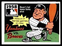 1958 - New York Yankees vs. Milwaukee Braves [VG]