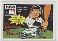 1958 - New York Yankees vs. Milwaukee Braves [GoodtoVG‑EX]
