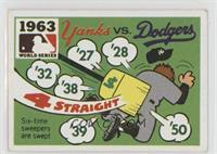 1963 - New York Yankees vs. Los Angeles Dodgers [GoodtoVG‑EX]