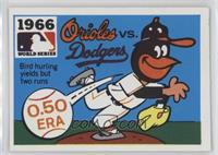 1966 - Baltimore Orioles vs. Los Angeles Dodgers