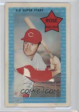 1971 Kellogg's 3-D Super Stars - [Base] #65.1 - Pete Rose (XOGRAPH -- No Date) [Poor] - Courtesy of COMC.com