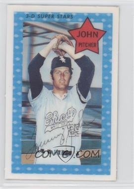 1971 Kellogg's 3-D Super Stars - [Base] #74.2 - Tommy John (1970 XOGRAPH, 444 Career Walks)