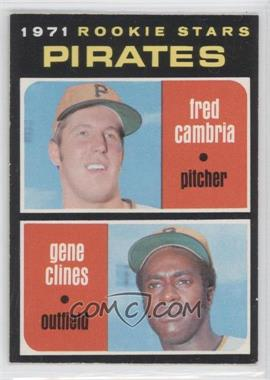 1971 O-Pee-Chee - [Base] #27 - Fred Cambria, Gene Clines