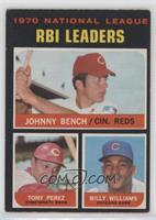 Johnny Bench, Tony Perez, Billy Williams [Good to VG‑EX]