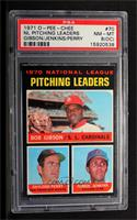 Bob Gibson, Fergie Jenkins, Gaylord Perry [PSA8NM‑MT(OC…