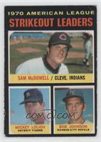 Sam McDowell, Mickey Lolich, Bob Johnson [Poor to Fair]