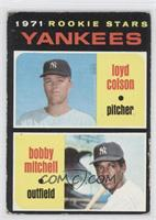 Yankees Rookie Stars (Loyd Colson, Bobby Mitchell) [Poor to Fair]